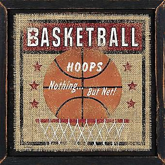 Basketball Poster Print by Linda Spivey (12 x 12)