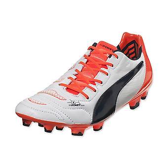 Puma Evopower 1.2 Leather FG Football Boots (White-Orange)
