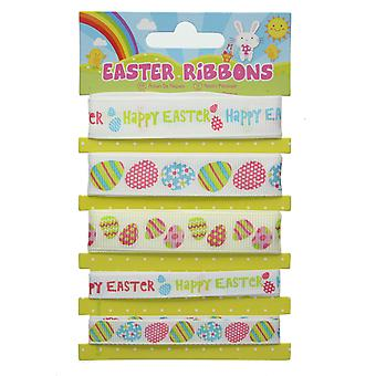 Decorative Easter Ribbons Pack of 5 Arts & Craft Bonnet Decorations Set