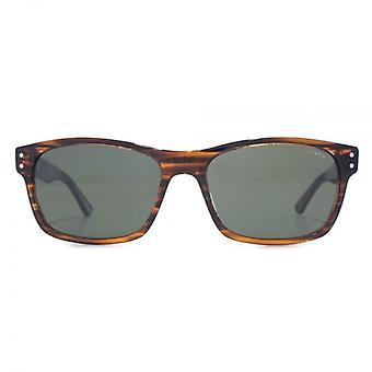 Levis Classic Rectangle Sunglasses In Brown Stripe
