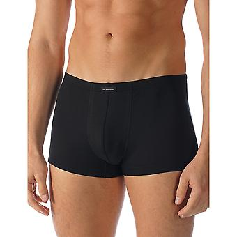 Mey 34221-123 Men's Network Black Solid Colour Fitted Boxer