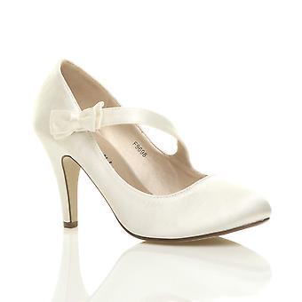 Ajvani womens Bruidssuite bruiloft prom partij hoge klassieke hielpompen rechter schoenen
