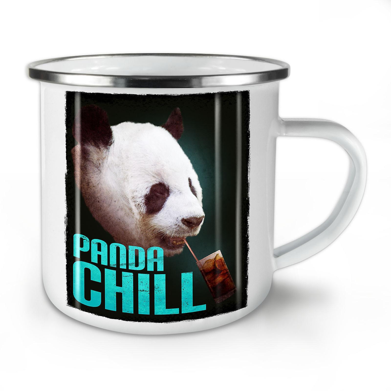 Panda Nouveau Whitetea OzWellcoda Café Émail Mignon Chill Mug10 LpGjSUzVqM