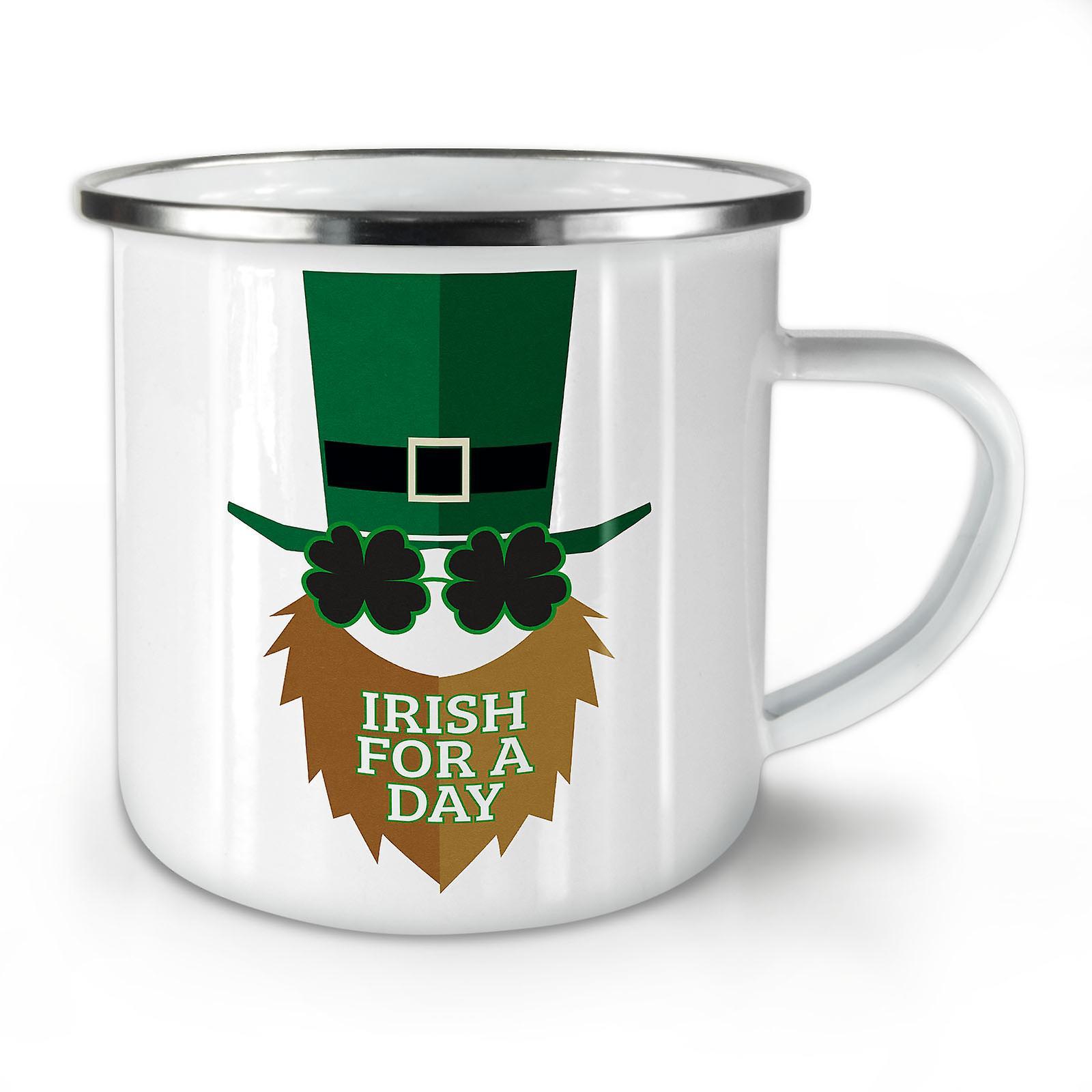 Mug10 Un Jour Nouveau Whitetea Irlandais OzWellcoda Émail Café Pour wN0vm8n