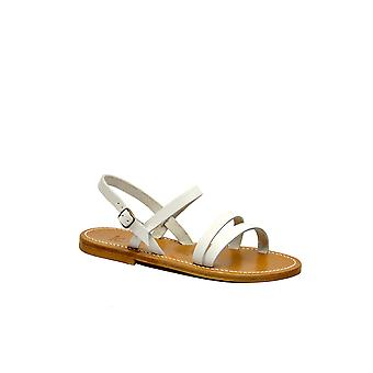 K Jacques women's ISISPULBLANC White Leather sandals
