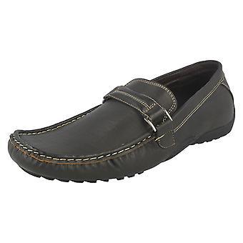 Mens Maverick Flat Buckle Strap Shoes