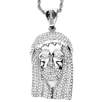 Iced out bling hip hop necklace - JESUS