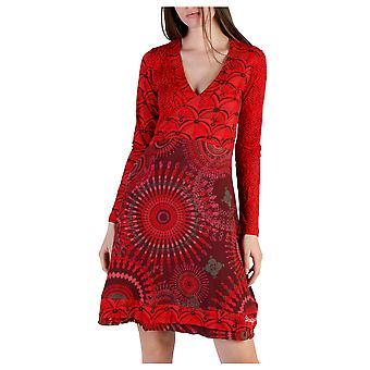 Desigual Women Dresses Red