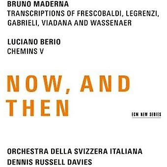 Maderna / Berio / Davies / Rsi Orchestra - Maderna & Berio: Now & Then [CD] USA import