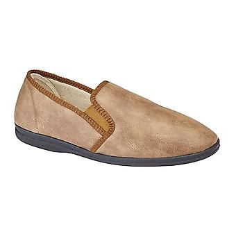 Sleepers Mens Eric Classic Plain Slippers