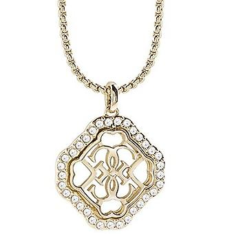 Guess Damen Kette Halskette Edelstahl gold UBN21569
