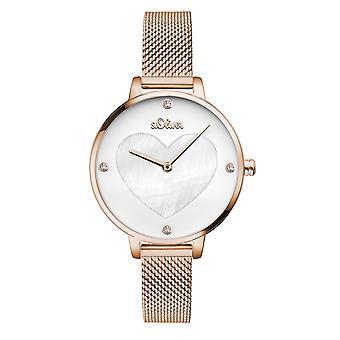 s.Oliver Damen Uhr Armbanduhr Edelstahl SO-3473-MQ