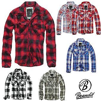 Brandit men's long sleeve shirt check shirt flannel