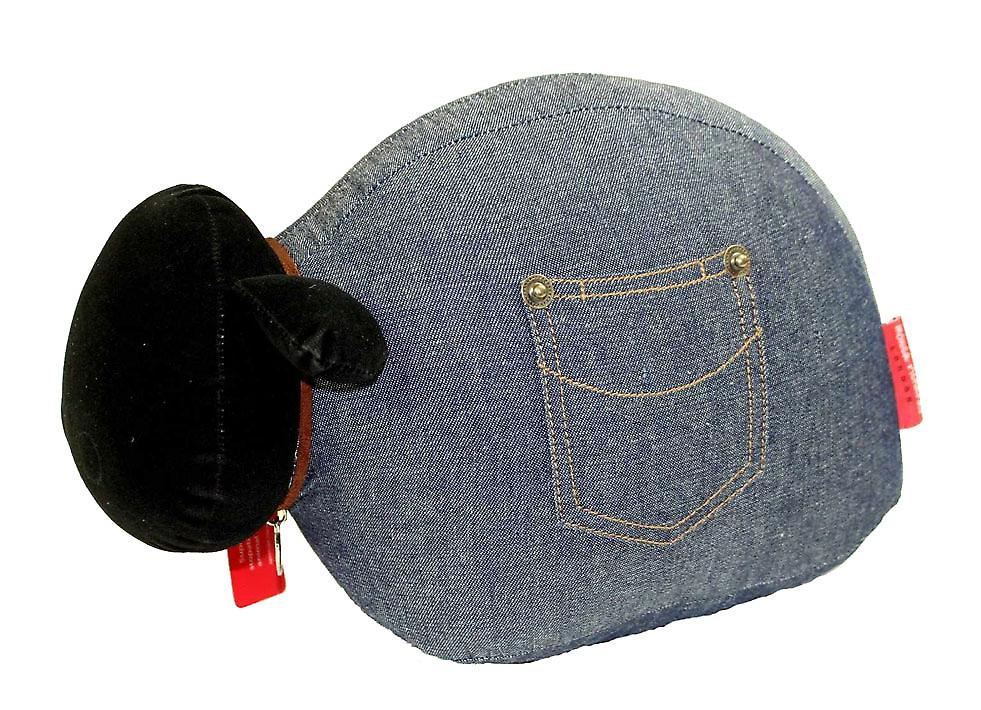 Denim moutons porte Banger / Doorstop par Monica Richards