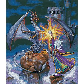 Gold Collection Magnificent Wizard Counted Cross Stitch Kit-12
