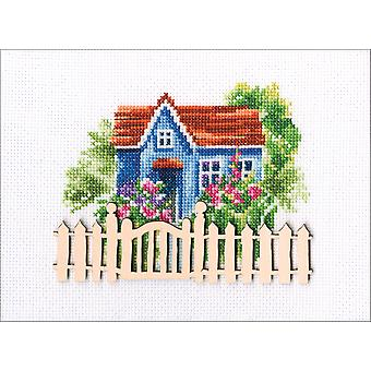 Rto Counted Cross Stitch Kit W/ Plywood Form 5.5