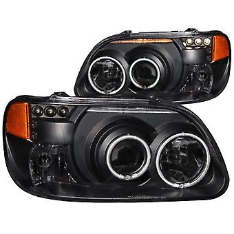 Anzo USA 111132 Ford Explorer Projector 1 Pc Black Clear Amber Headlight Assembly - (Sold in Pairs)