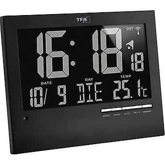 TFA 60.4508 Radio Wall clock 185 mm x 230 mm x 31 mm Black