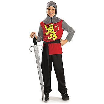 Middelalderlige Herren Knight renæssance Crusader bog uge kjole op drenge kostume