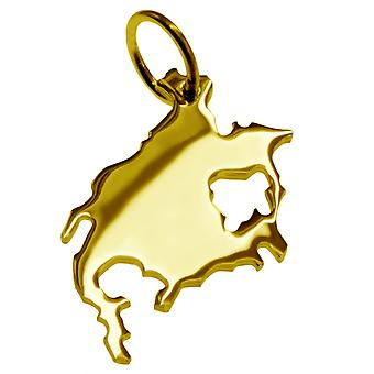 Trailer land map North America solid 585 gold pendants