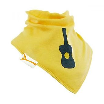 Yellow & grey guitar bandana bib