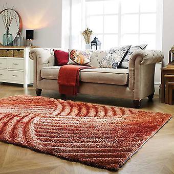 Rugs -Verge Furrow in Terracotta