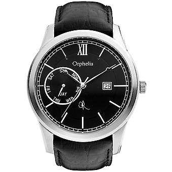 ORPHELIA Mens Analogue Watch Rich History Black Leather 132-6707-44