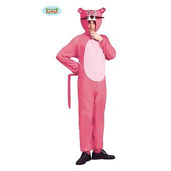 Pinker Panther Kostüm für Erwachsene Tierkostüm Unisexkostüm  Katzenkostüm Pink