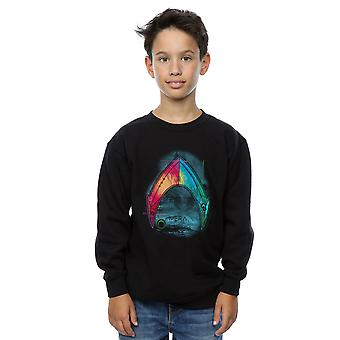 DC Comics Boys Aquaman Mera Logo Sweatshirt