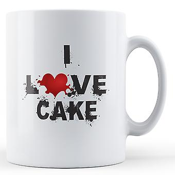 Ja miłość ciasto drukowane kubek