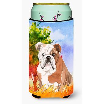 Fall English Bulldog Tall Boy Beverage Insulator Hugger