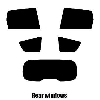 Pre cut window tint - Renault Grand Scenic 5-door Hatchback - 2003 to 2009 - Rear windows