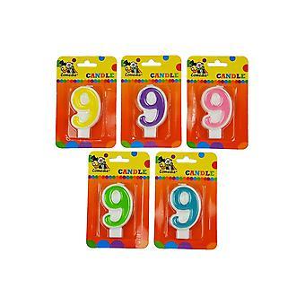 Ballon und Ballon Zubehör Geburtstag Kerze mit Nummer 9