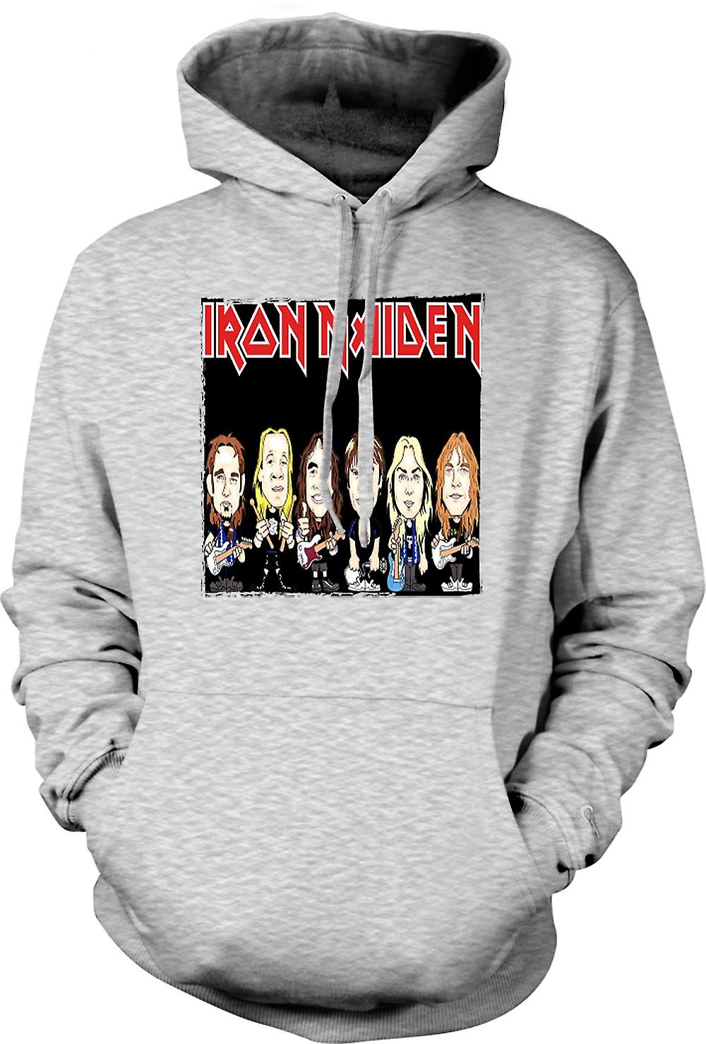 Mens Hoodie - Iron Maiden - Cartoon Band