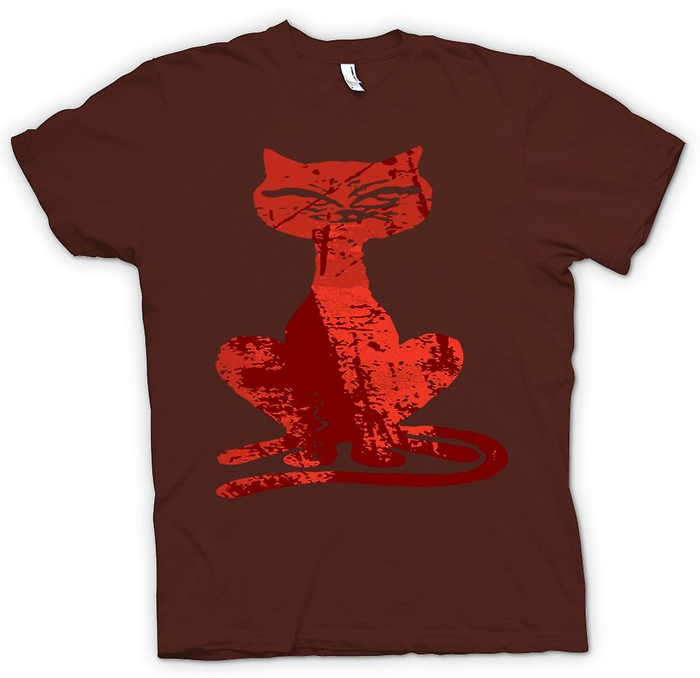 Mens T-shirt - Witches Cat - Halloween - Funny
