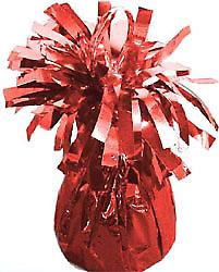Balloon Weight Foil Wrapped Red