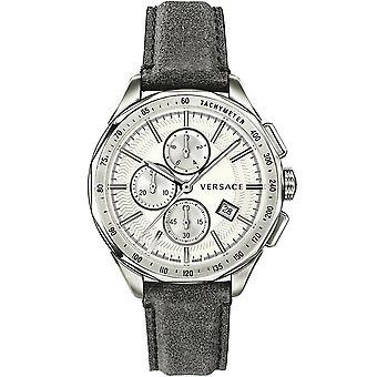 Versace mens watch wristwatch GLAZE leather VEBJ00118