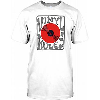 Vinyl regler - kule DJ Design Mens T-skjorte