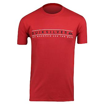 Quiksilver Mens Clean Ways T-Shirt - Chili Pepper Red