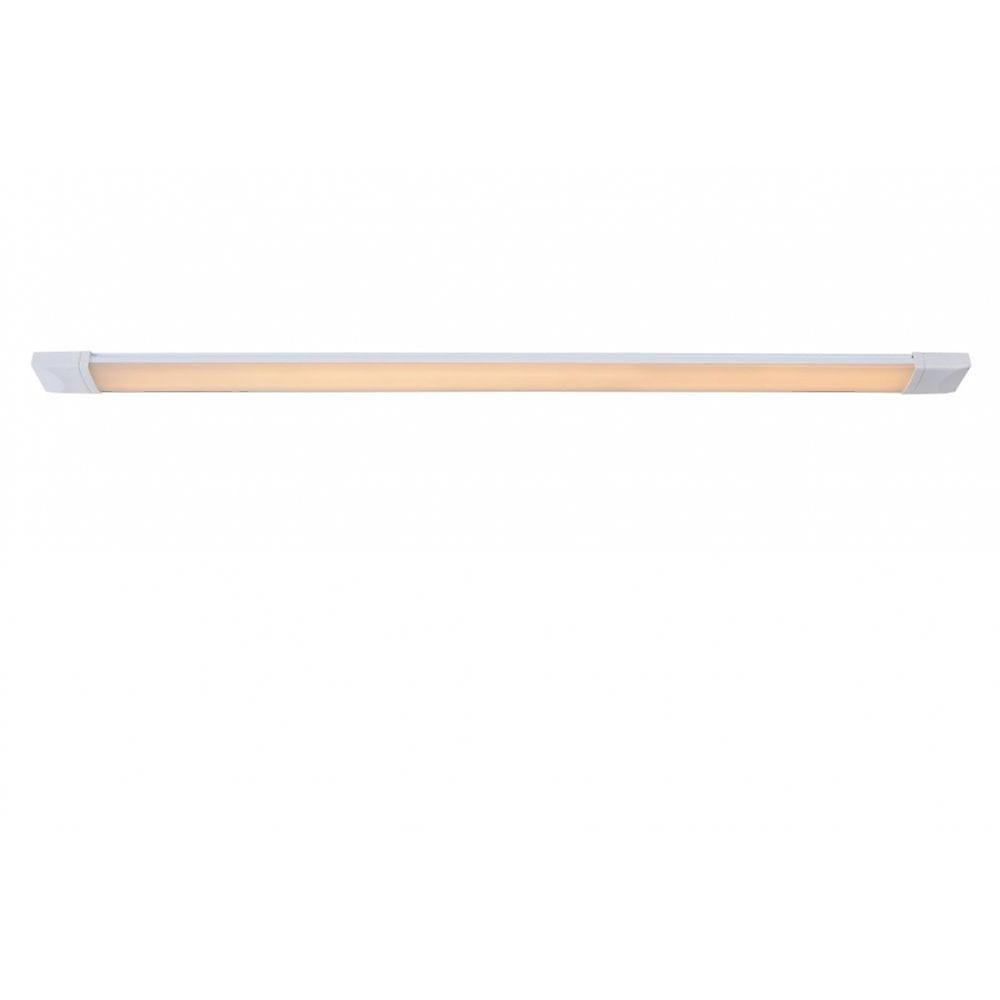 Lucide Dexty LED Modern Rectangle Aluminum blanc And Opal Flush Ceiling Light
