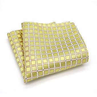 Indian wedding gold & silver patterned pocket square