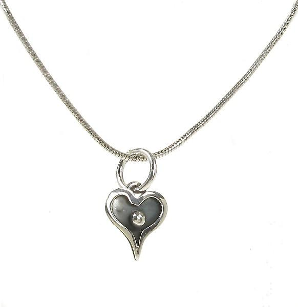 Cavendish French Tiny Dark Heart Pendant without Chain