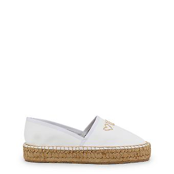 Love Moschino Women's Low Top Wedges White/Beige Sole
