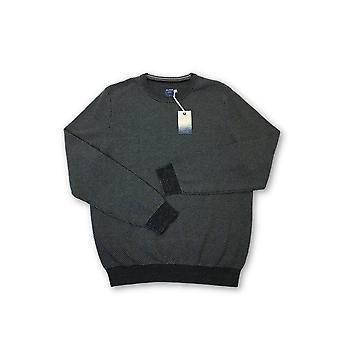 Olyp casual knitwear in black and grey waffle pattern