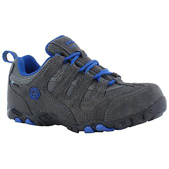 Hi-Tec Charcoal/black Childrens Quadra Classic WP Walking Shoes