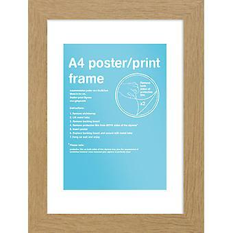 Eton telaio rovere A4 Poster / stampa Frame