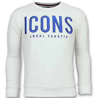 ICONS-Cute Sweater men-6349W-White