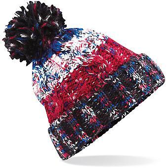 Beechfield - Corkscrew Pom Pom Beanie Hat