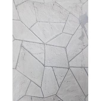 Fond d'écran gris Brique White Stone Ardoise Geometric Metallic Concrete Angles