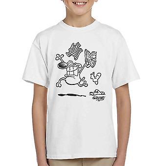 Grimmy Clothes Off Kid's T-Shirt